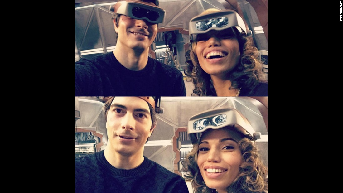 """Legends of Tomorrow"" stars Brandon Routh and Ciara Renee wear welding goggles on Thursday, February 25. ""We've #welded together another great ep of @cw_legendsoftomorrow for you tonight!"" <a href=""https://www.instagram.com/p/BCOjtyBJIKp/"" target=""_blank"">Routh said on Instagram.</a> ""What are we fixing? Watch tonight!"""