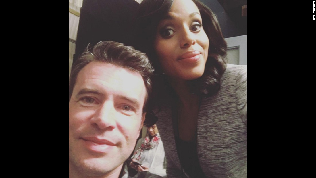 """I'd be tweeting more but this director keeps bossing me around,"" <a href=""https://www.instagram.com/p/BCPPf8xABsr/"" target=""_blank"">said actress Kerry Washington</a> in this photo with Scott Foley on Friday, February 26."