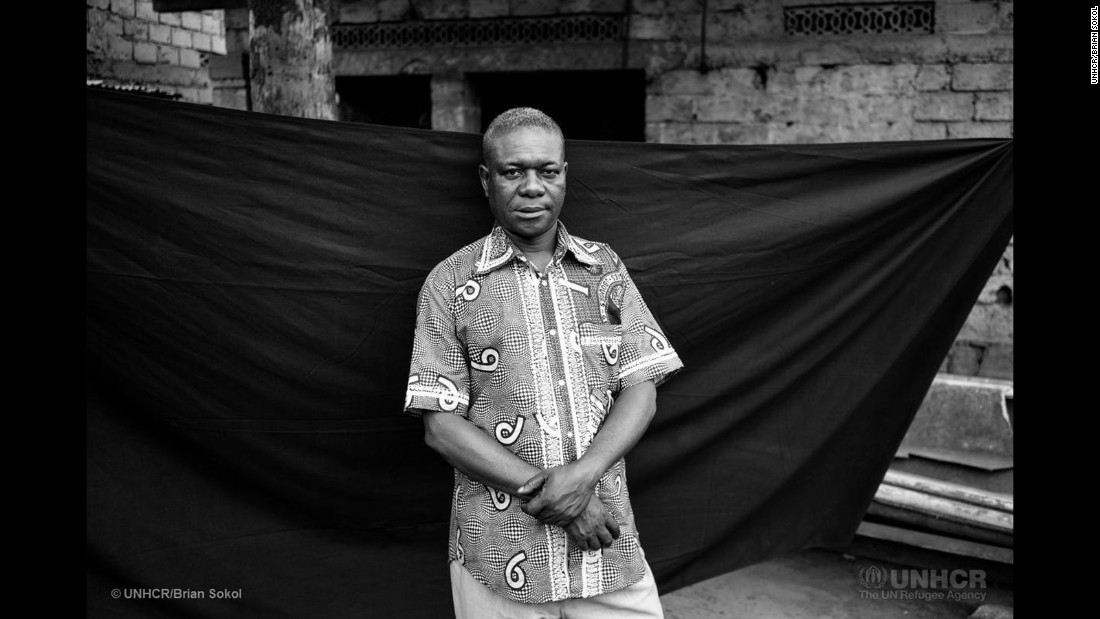 """Orphaned at the age of 12 and forced to become a child soldier, Antonio, 53, led 150 children -- some as young as six years old -- into combat. """"I did what I did in order to stay alive,"""" he says, recalling his harrowing experience. Antonio deserted after two battles and disappeared into the forest, living for over a year off the land and hunting with his gun, before making the crossing into Zaire. His story, he says, is the most important thing he took with him, so that others can learn from it."""