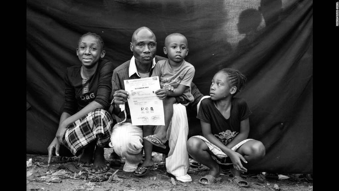 "Sebastio, 55, was once a soldier, but fled Angola when he discovered a threat against his life. If he were forced to flee once more, a ""Billet de Composition Familiale"" would be the one item Sebastio would take, a document proving he is a refugee and that his children are Angolan."
