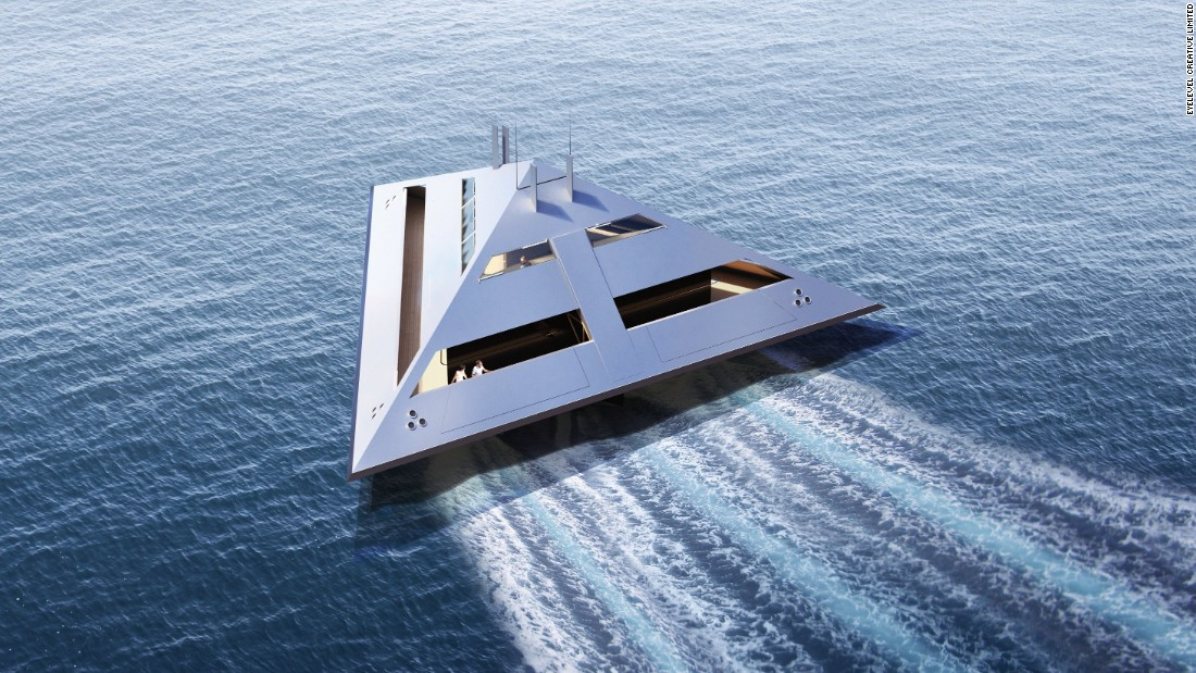 """I felt it was time that the superyacht world could expand,"" Schwinge tells CNN. ""It's a reinvention of the superyacht idea -- a superyacht that does not look like a superyacht in any form but which has had, however, a quantum leap aspect to it."""