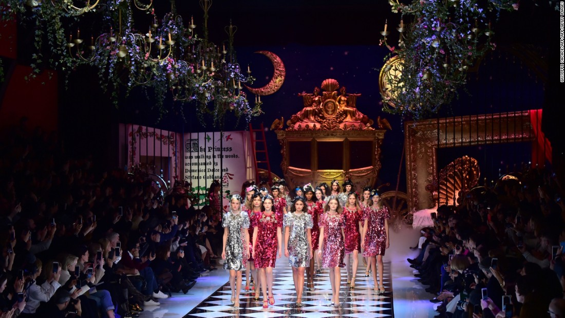 Dolce & Gabbana's Autumn-Winter 2016 collection was inspired by fairy tales.
