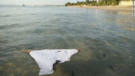 The piece of debris suspected to be from MH370.