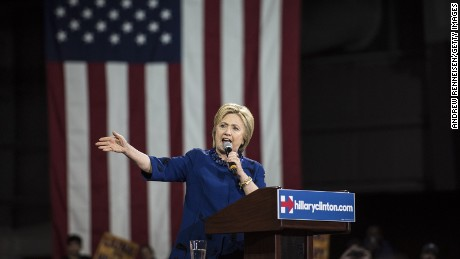 Democratic Presidential Candidate Hillary Clinton speaks to supporters at a rally at the Javits Center following Super Tuesday on March 2, 2016 in New York City.
