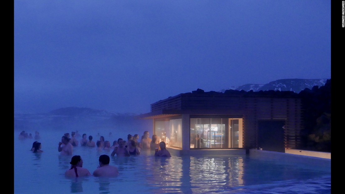 "Third-place<strong> Iceland's</strong> Blue Lagoon, in a lava field, is the country's most famous geothermal spa. <a href=""http://www.swimminginiceland.com/hot-springs"" target=""_blank"">You can also mix with the locals</a> at their hot springs or thermal-heated swimming pools all over the country."
