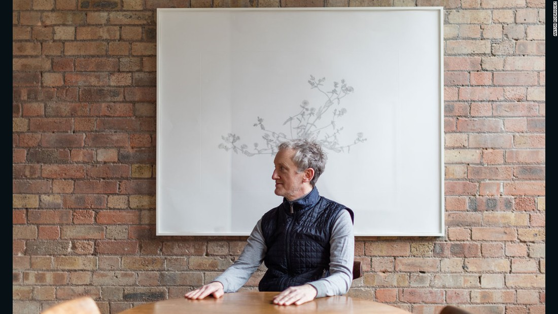 Artist Michael Landy lives with only the bare minimum of furnishings in his home.