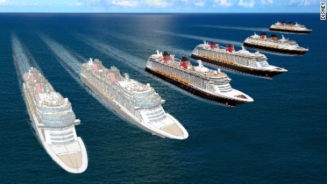 Disney released concept art for two new cruise ships.