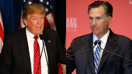 The Donald Trump vs. Mitt Romney fight — In one minute