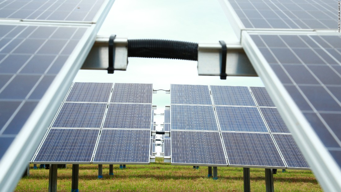 Thanks to a new solar plant on its grounds, George will harness 41% of its energy needs from the Sun.