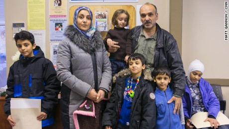 A newly arrived Syrian family finds help at Lethbridge Immigrant Services.