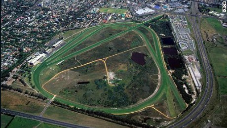 An aerial view of Kenilworth Racecourse