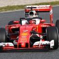 Kimi Raikkonen Ferrari: halo, testing Barcelona