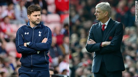 Spurs manager Mauricio Pochettino and Gunners boss Arsene Wegner will square up on Saturday.