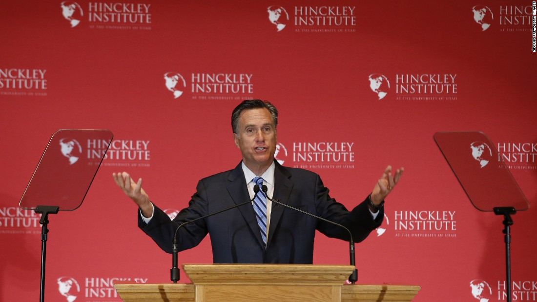"Former Massachusetts Gov. Mitt Romney gives a speech about the state of the Republican Party during a forum at the University of Utah on Thursday, March 3. Romney <a href=""http://www.cnn.com/2016/03/03/politics/mitt-romney-presidential-race-speech/index.html"" target=""_blank"">went after presidential candidate Donald Trump,</a> calling the GOP's front-runner a phony and a fraud. Trump hit back by mocking Romney's loss in the 2012 election, and he said that Romney back then ""was begging for my endorsement."""