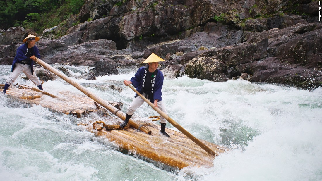 The adventure sport was inspired by Japan's traditional lumber industry. Felled wood was assembled into rafts then sent down the river -- a transport method used for more than 600 years. In the late 1970s it was introduced to tourists.