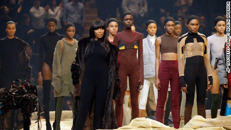 Naomi Campbell was one of almost 1,000 models at Kanye West's Yeezy Season 3 presentation