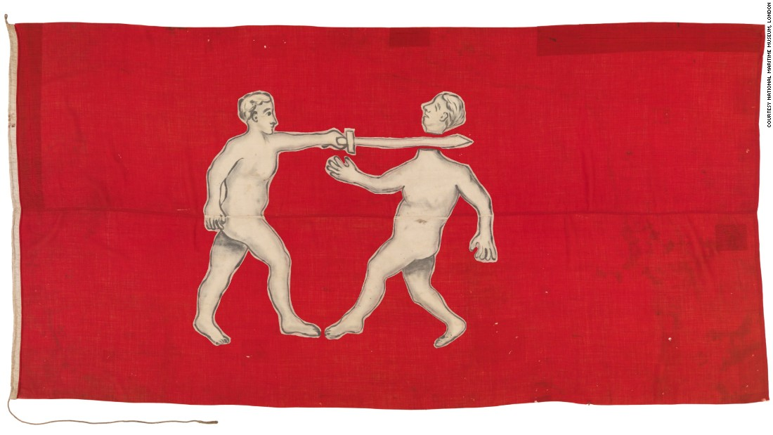 "This West African flag, also believed to be from the Itsekiri ethnic group, was brought to the UK following the <a href=""https://en.wikipedia.org/wiki/Benin_Expedition_of_1897"" target=""_blank"">Benin Expedition of 1897</a>. British troops invaded Benin City, in what is now southern Nigeria."