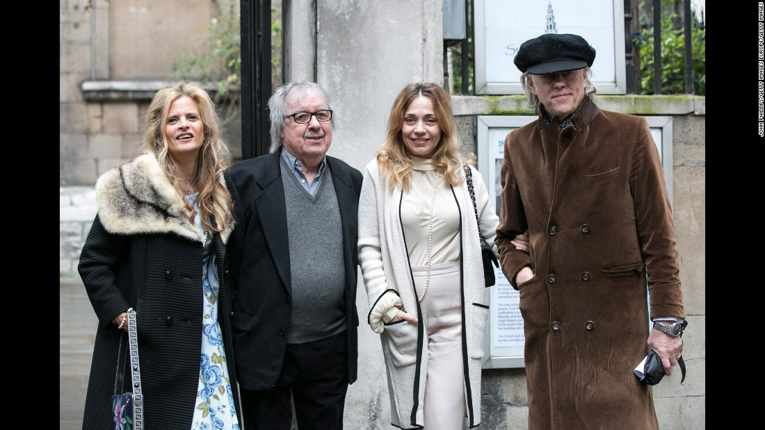 Sir Bob Geldof with Jeanne Marine and Suzanne and Bill Wyman.