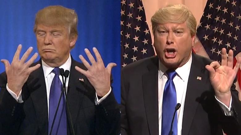 'SNL' mocks Trump's hand-size feud