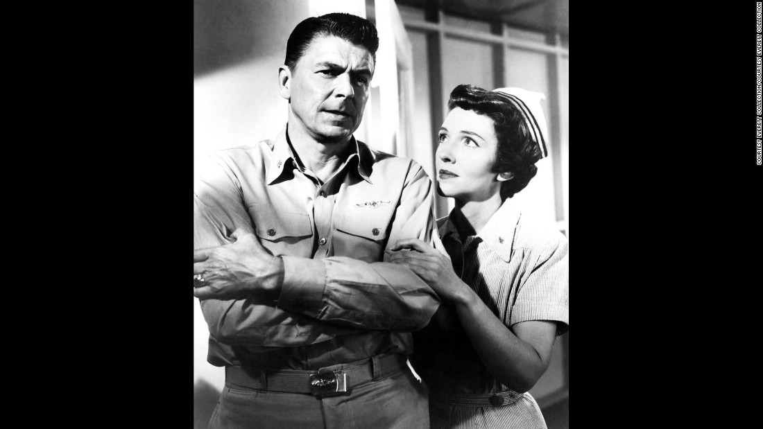 "Ronald and Nancy Reagan appear in ""Hellcats of the Navy"" in 1957.  It was her last film."