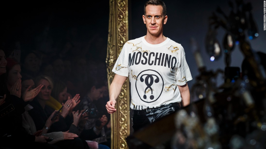 moschino jeremy scott on runway