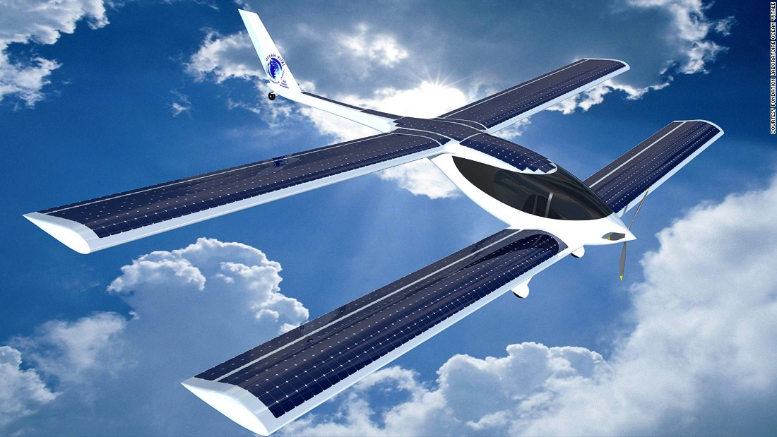 Frenchman Raphael Dinelli hopes to make the world's first zero-carbon flight across the Atlantic, in a hybrid aircraft called the Eraole.
