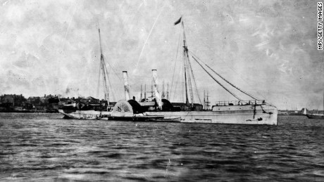 This blockade runner, the Teaser, was photographed near Fort Monroe, Virginia.