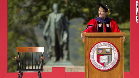 Elizabeth Garrett was the first female president of Cornell University. She died of colon cancer after less than a year on the job, the university said Monday.