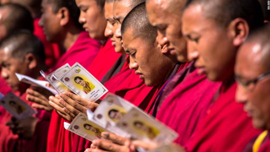 Monks sing a celebratory song at K4's celebration. Bhutan is one of the only countries to place humility and compassion at the center of its constitution.
