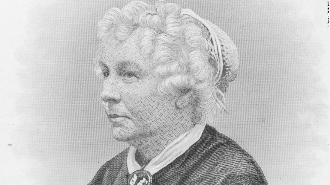 "Elizabeth Cady Stanton was the first woman to run for a seat in the U.S. House of Representatives. She was a leader of the suffragette movement along with Lucretia Mott and Susan B. Anthony. She was also the editor of the feminist magazine ""Revolution."""
