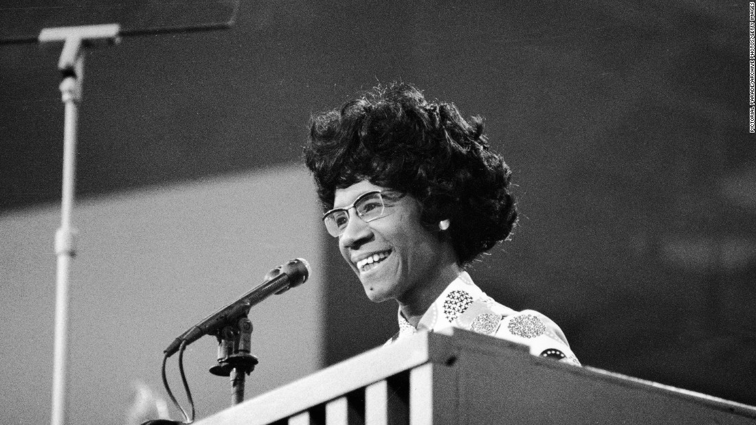 Shirley Chisholm, a Democrat from New York, was the first African-American woman to be elected to the U.S. House of Representatives. She was elected in 1968.