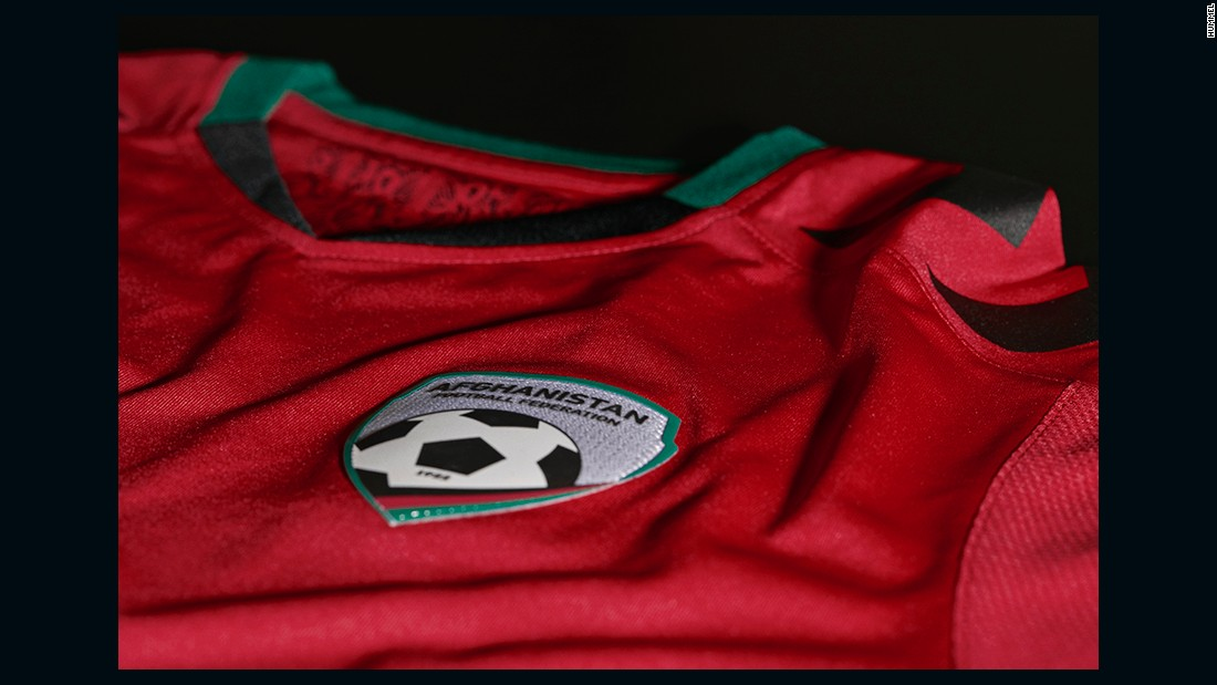 The jersey is designed by Danish sportswear brand Hummel, which took advantage of football's world governing body FIFA lifting its ban on head covers in 2014.
