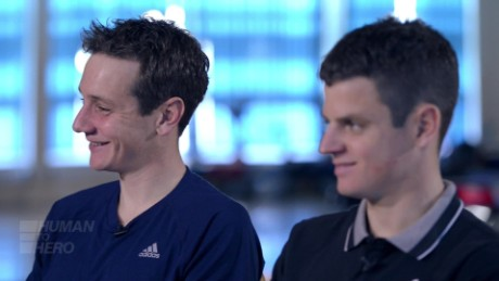 The Brownlees during filming for CNN's Human to Hero.