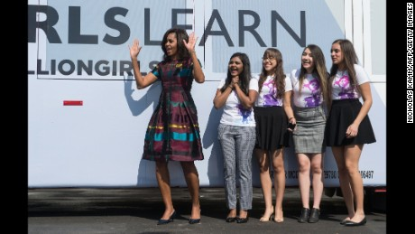 Michelle Obama to girls: 'Push past those doubters'