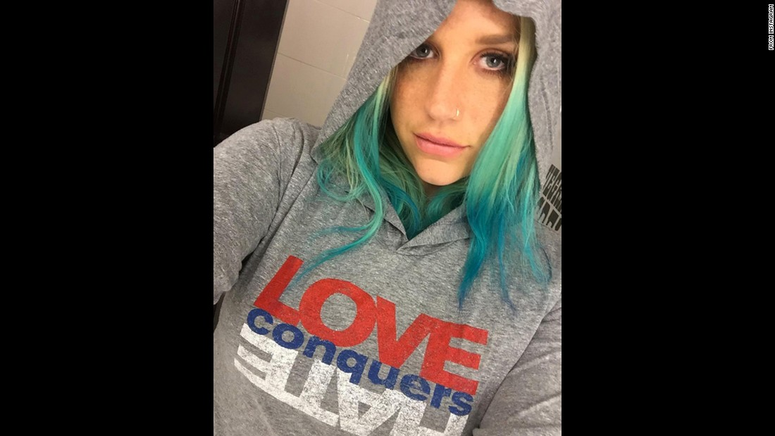 "Kesha takes a selfie with a sweatshirt that says ""love conquers hate"" on Sunday, March 6. The singer had received the Human Rights Campaign's Visibility Award for her work in the LGBT community. ""Thank you @humanrightscampaign for having me tonight and for my visibility award,"" <a href=""https://www.instagram.com/p/BCmaRrWO1VV/?taken-by=iiswhoiis&hl=en"" target=""_blank"">she said on Instagram.</a> ""Tonight was incredibly special to be awarded for something I care so deeply about. I will fight for equal human rights till the day I die. Love always wins!"""
