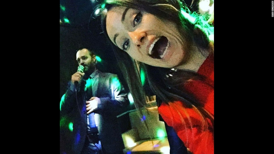 "Olivia Wilde <a href=""https://www.instagram.com/p/BCruon1shmh/?taken-by=oliviawilde&hl=en"" target=""_blank"">enjoys karaoke</a> with fellow actor Will Forte on Tuesday, March 8."