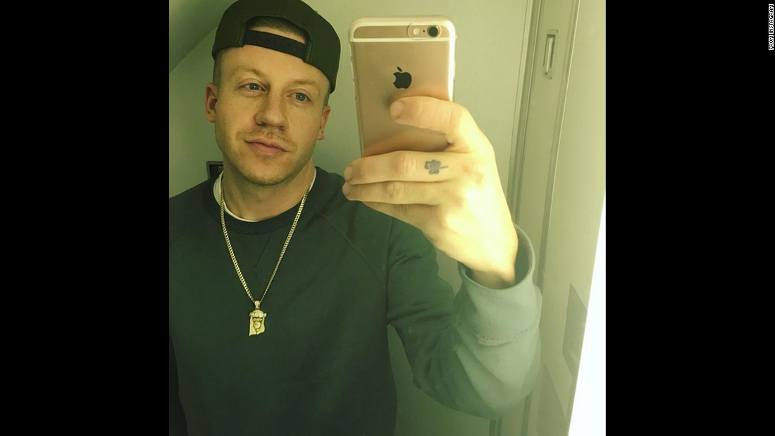 "Rapper Macklemore takes a selfie in an airplane bathroom on Sunday, March 7. ""LAST AMERICAN AIRPLANE BATHROOM SELFIE,"" <a href=""https://www.instagram.com/p/BCrLzJEQKwN/?taken-by=macklemore&hl=en"" target=""_blank"">he said on Instagram.</a> ""IM OUT. EUROPE FOR THE NEXT 2 MONTHS. #TOUR."""