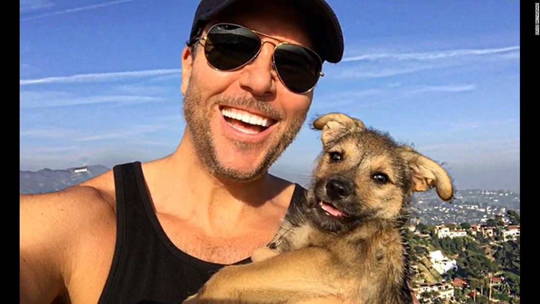 "Comedian Dane Cook snaps a selfie with his puppy on Tuesday, March 1. ""Choppers 1st hike @runyoncanyonpark & he was unbelievably cool,"" <a href=""https://www.instagram.com/p/BCbquq9gAmJ/?taken-by=danecook"" target=""_blank"">Cook said on Instagram.</a>"