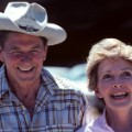 01 Ronald and Nancy Reagan at home RESTRICTED