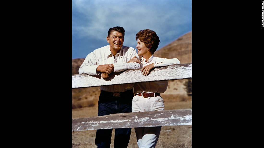 "Ronald and Nancy in 1974. Throughout her husband's presidency, Nancy was <a href=""http://www.cnn.com/2016/03/06/politics/nancy-reagan-dies-obit/index.html"" target=""_blank"">fiercely protective</a> of him. After they left Washington, she became his protector again as he struggled with Alzheimer's disease until his death in 2004."