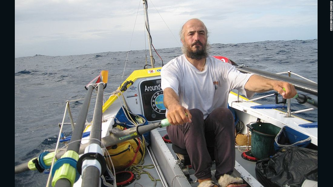 Erden Eruc also circumvented the world using only human power, though he completed the trip solo, without any assistance. He rowed, kayaked, hiked and cycled his way around the world. The journey lasted five years, 11 days, 12 hours and 22 minutes and was completed in 2012.