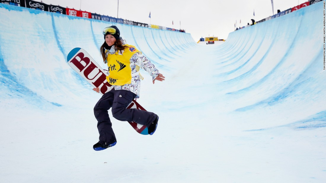 "Thirty-three-year-old Clark is the first female to nail a 1080 frontside twist in competition.""There are not a lot of sports that mirror what our heart rates do,"" she says."