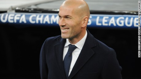 MADRID, SPAIN - MARCH 08:  Zinedine Zidane, coach of Real Madrid looks on during the UEFA Champions League Round of 16 Second Leg match between Real Madrid and Roma at Estadio Santiago Bernabeu on March 8, 2016 in Madrid, Spain.  (Photo by Denis Doyle/Getty Images)