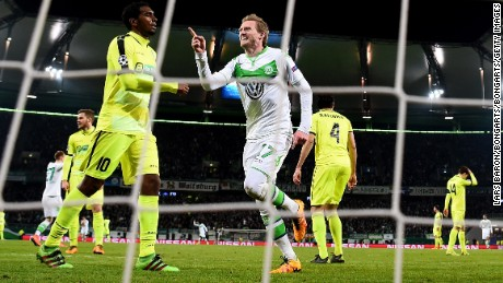 Champions League: Late André Schürrle strike thrusts Wolfsburg into history