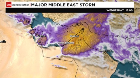 A severe storm whips through the United Arab Emirates on Wednesday.