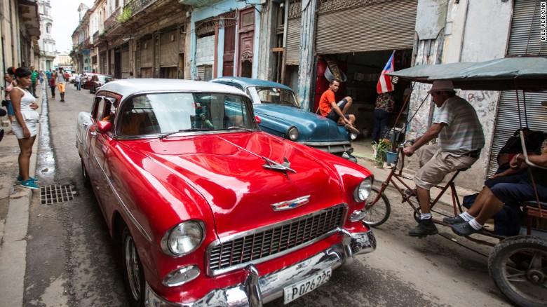 A 1955 Chevy Bel Air is one of thousands of old American cars that still fill the streets of Havana. Cubans lucky enough to keep the cars running now ferry tourists around town for about $40 an hour -- twice what the average Cuban earns in a month.