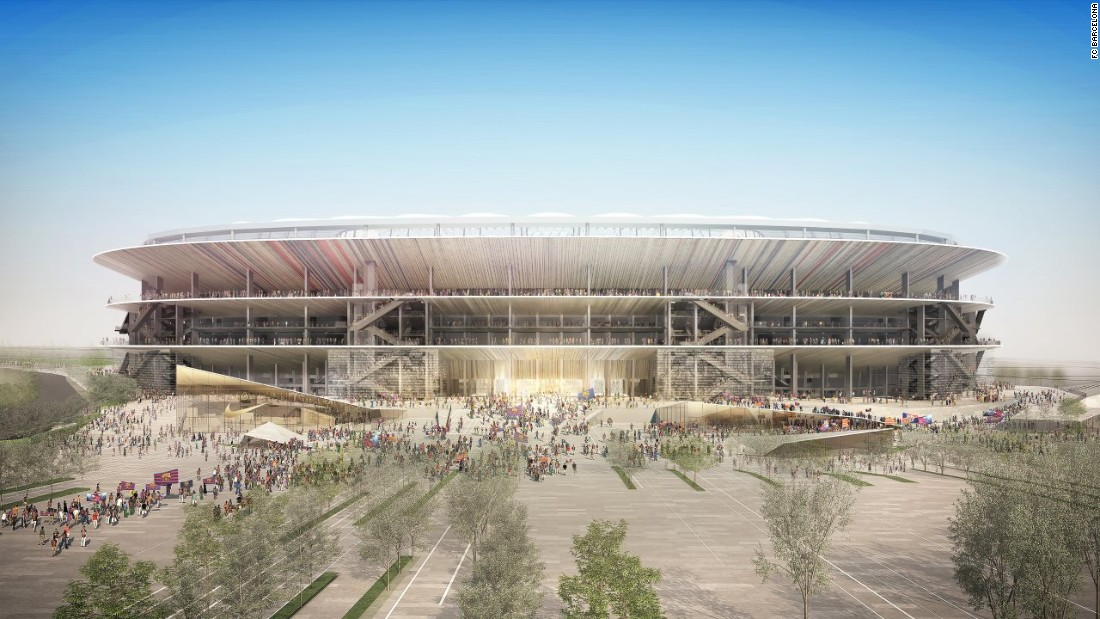 "The club statement went on: ""In short, it is a unique solution, reproducing the characteristic vision of the grandstand and canopy, from the inside out, a silent and powerful tribute to the stadium built by Francesc Mitjans in 1957."""