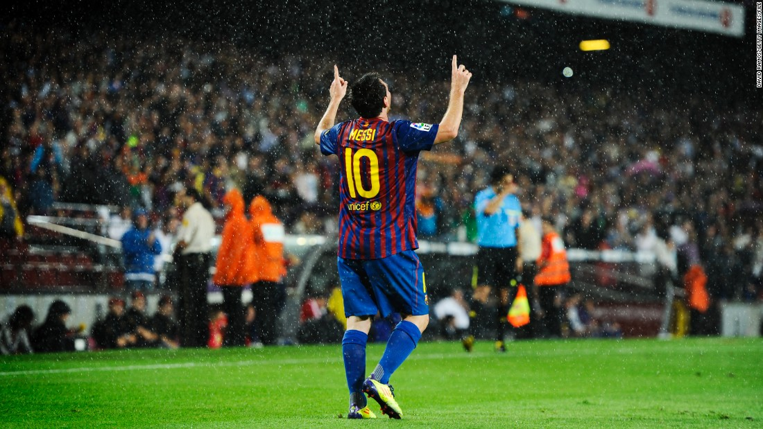 Barcelona's star player, Argentina striker Lionel Messi, has scored 307 goals for Barcelona. He'll be 33 by the time the stadium is completed. Will he still be turning out in blue and red by then?
