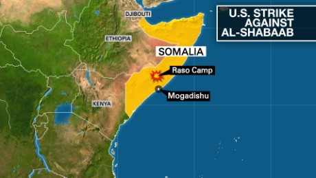 "A U.S. strike killed 150 Al-Shabaab fighters at a training site called the ""Raso Camp,"" the Pentagon says."