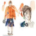 illustrated fashion week christopher kane